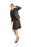 La donna di affari vede qualche cosa di interessante Fotografia Stock