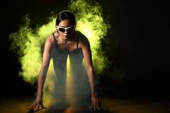 La donna di forma fisica, ragazza può fare forte Immagini Stock Libere da Diritti