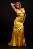 La donna di forma fisica in sera-si veste Immagine Stock Libera da Diritti