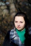 La donna e l'autunno Fotografia Stock Libera da Diritti