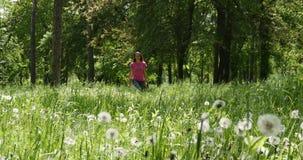 La donna esce dalla foresta archivi video