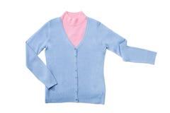 La donna ha lavorato a maglia le camicette impostate Fotografia Stock