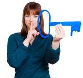 La donna ha un segreto Fotografia Stock