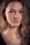 La donna naturale del fronte di bellezza senza compone Fotografie Stock Libere da Diritti