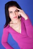 La donna premurosa e bella, ricorda qualcosa Fotografia Stock Libera da Diritti