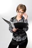 La donna seria di affari Fotografie Stock