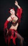 La donna sta ballando Fotografie Stock Libere da Diritti