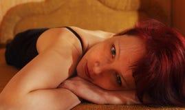 La donna triste Fotografia Stock Libera da Diritti