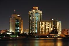 La Doubai alla notte Fotografia Stock Libera da Diritti