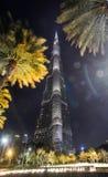 La Doubai Burj Khalifa alla notte fotografia stock libera da diritti