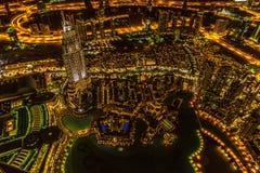 La Doubai del centro alla notte Fotografia Stock Libera da Diritti
