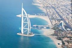 La Doubai, UAE. Arabo di Al di Burj da sopra Fotografia Stock Libera da Diritti