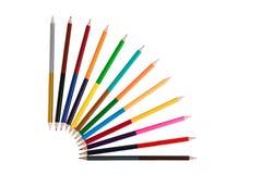 La double couleur dégrossie lumineuse crayonne, concept d'art photo stock