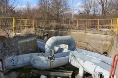 La double eau très chaude, systèmes de vapeur Photographie stock