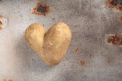 La double pomme de terre en forme de coeur d'amusement ou sarclent Image libre de droits