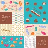 La douceur de la sucrerie, chocolat, miel illustration de vecteur