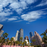 LA Downtown Los Angeles Pershing Square palm tress Royalty Free Stock Photos