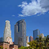 LA Downtown Los Angeles Pershing Square palm tress Royalty Free Stock Images