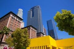 LA Downtown Los Angeles Pershing Square palm tress Stock Image