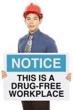 La droga libera il posto di lavoro fotografia stock