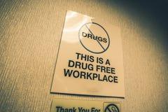 La droga libera il posto di lavoro Fotografia Stock Libera da Diritti