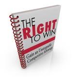 La droite de gagner l'avantage compétitif d'affaires Image libre de droits
