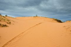 La duna de arena grande Fotos de archivo