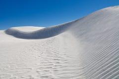 La dune de sable au blanc sable le monument national, Etats-Unis Image libre de droits