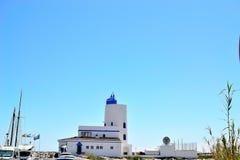 La Duquesa lighthouse, Costa del Sol, Spain. La Duquesa lighthouse, Manilva, Costa del Sol, Spain stock photo