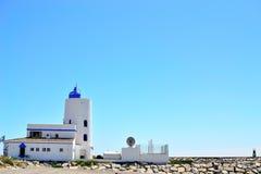 La Duquesa lighthouse, Costa del Sol, Spain. La Duquesa lighthouse, Manilva, Costa del Sol, Spain royalty free stock image