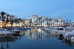 La Duquesa marina at dusk, Spain Royalty Free Stock Photos