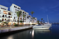 La Duquesa marina at dusk, Spain Stock Photography