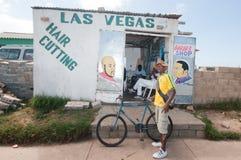 La durée de la banlieue noire, Afrique du Sud photographie stock libre de droits