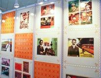 La durée de Mahatma Gandhi commémorée sur des estampilles Image libre de droits