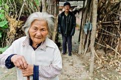 La durée postérieure de personnes âgées chinoises Images stock