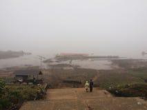 La durata della riva del fiume del Mekong fotografie stock libere da diritti