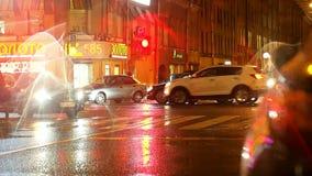La durata di notte della città stock footage