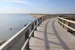 La Dyn de Bouctouche New Brunswick strandpromenad royaltyfri foto