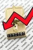 La economía baja en la trampa Imagen de archivo