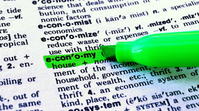 La economía de la palabra Fotografía de archivo