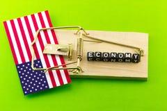 La economía de los E.E.U.U. Imágenes de archivo libres de regalías
