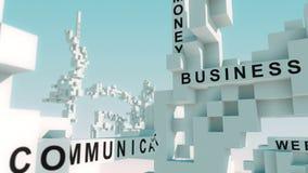 La economía de la red redacta animado con los cubos ilustración del vector
