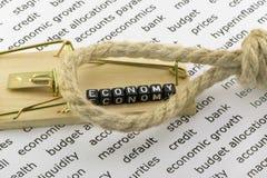 La economía en el lazo de la deuda Fotos de archivo