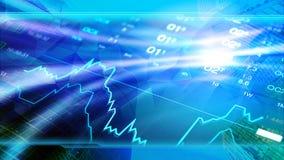 La economía global, finanzas, negocio, invierte el papel pintado ilustración del vector