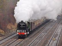 La edad del vapor, locomotora de la vendimia foto de archivo