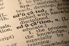 La educación de la palabra Imagen de archivo libre de regalías
