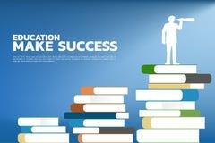 La educación del concepto hace éxito stock de ilustración