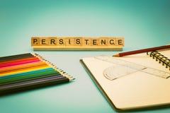 La educación es persistencia Imagenes de archivo