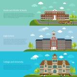 La educación escolar, la High School secundaria y la universidad estudian Imágenes de archivo libres de regalías
