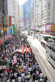 La ?educación nacional? levanta furor en Hong-Kong Fotos de archivo